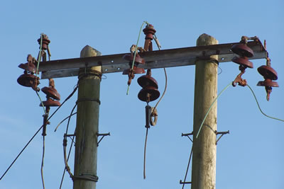 Power insulators disused